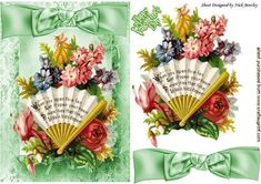 Open your heart to memories pretty vintage floral fan  on Craftsuprint - Add To…