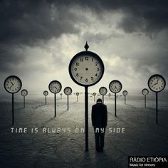 """Hours and clouds. When the clock does not mark the hours. Suspension in time. (Photo Manipulation by Norvz Autriche or """"The Time Traveler"""" by Norvhic Fernandez) ? Surrealism Photography, Conceptual Photography, Art Photography, Artistic Photography, Art Bizarre, Weird Art, Strange Art, Art Manga, Surreal Artwork"""