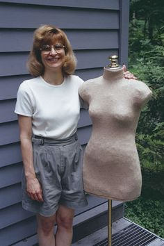 I wanted to get a dressmaker's dummy, but these Ideas are SO much better!