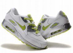 newest 1b181 7dd6e air max 90 blanc vert fluorescent - €55.00   Chaussures Nike Air Max Pas  Cher Solde   Nike Free Run   Nike Air Jordan - Livraison gratuits