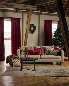 Oversized Mirror, Tekstiler, Curtains, Christmas, Cabin, Furniture, Home Decor, Merry Christmas, Xmas