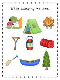 Camper, Camper, What Do You See? by Creating Communicators Camping Songs For Kids, Kids Songs, Backyard Camping, Camping Theme, Camp Songs, Beginning Sounds, Reading Centers, What Do You See, Room Themes