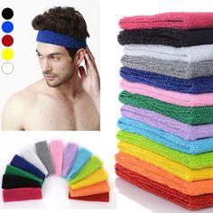 Donne Mens Sport Della Fascia Del Cotone Hairband Elastico Sweatbands M Signore Della Fascia Capa Dei Capelli Headwear Accessori Per Capelli