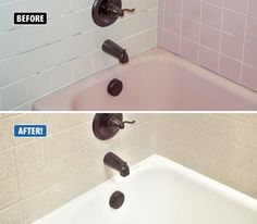 Is your #tub and #tile surround outdated? Back in the day, pink, avocado green…