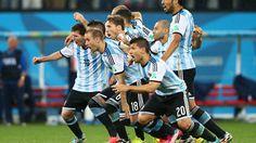 2014 FIFA World Cup™ - Photos - FIFA.com  Lionel Messi, Pablo Zabaleta, Martin Demichelis, Marcos Rojo, Lucas Biglia, Javier Mascherano, Rodrigo Palacio, Ezequiel Garay and Sergio Aguero of Argentina celebrate