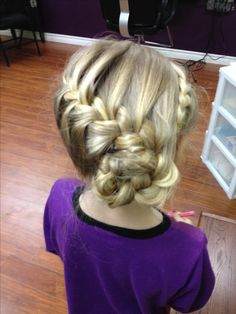 Cute! Little girls updo