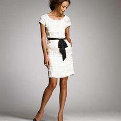 Jcrew Shimmy Dress Comes with complete set. Dress, silk slip and silk black belt. EUCretail not factory J. Crew Dresses Mini