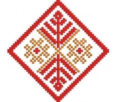 Výšivka Sloveni 3, červeno-oranžová Cards, Maps, Playing Cards