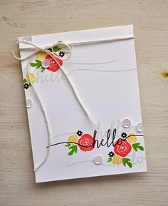 Hello Card by Maile Belles for Papertrey Ink (March 2015)
