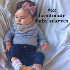 Handmade baby infinity scarf snood from deconstructed sweaters!