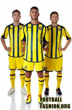 Maccabi Tel Aviv FC Under Armour 2012 13 Home and Away Kits 08dfd88d387b2