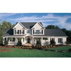 Farm House Plans at Dream Home Source | Flexible Farm House Floor... ❤ liked on Polyvore