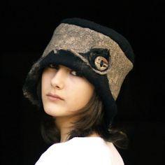 felt hat handmade in france clara by jannio on Etsy