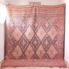 Moroccan Vinatge Rug Handmade All Wool Antique Beauty Carpet 8'5x6'10 #MoroccanVintage