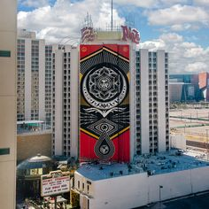 """politically charged """"Cultivate Harmony"""" mural took over Las Vegas. Drop by our site to get a closer look. Shepard Fairey Obey, Hypebeast, Photo Credit, Las Vegas, Photo And Video, Closer, Artist, Drop, Instagram"""