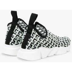 Balenciaga Speed Line woven sneakers (10.870.370 IDR) ❤ liked on Polyvore featuring shoes, sneakers, slip-on sneakers, wedge trainers, slip-on shoes, wedge heel sneakers and woven slip on shoes