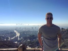 The view over Los Angeles California from Mulholland Drive. You can drive right up to this spot!
