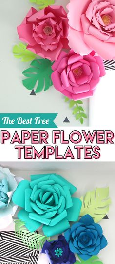 This is a collection of the best free paper flower templates available across the internet. There are many different flower petal shapes and varieties to choose from. You