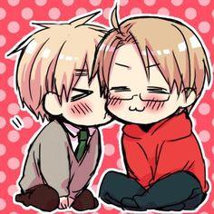 Hetalia UsUk, England's gentleman kisses!