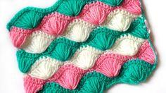 Crochet pattern Fans of elongated stitches - YouTube