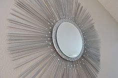I ♥ star burst mirrors, but they tend to be quite expensive....this looks easy enough, even for my non-crafty self.