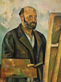 Self Portrait with Palette, 1890, Paul Cézanne