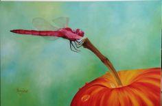 El descanso de la libélula - óleo sobre tela - artista: Rosemary Norte