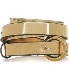 Metallic Faux Leather Belt  by Stella Mccartney #Matchesfashion