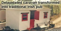 A civil engineer has made his dream a reality after transforming an old dilapidated caravan into a mobile cosy Irish pub.  Mark Mooney, of Co Tyrone, spent just three months on his 'baravan' after having the …