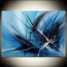 Abstract Painting Blue Painting Blue Abstract Art by largeartwork - it looks like shattered glass..