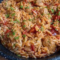 Paradicsomos húsgolyók rizsszem tésztával - GastroHobbi Ethnic Recipes, Food, Essen, Meals, Yemek, Eten