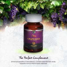 Grape Seed Oil #  This incredibly versatile natural oil comes from the seeds of grapes. Hailed for millenia and naturally rich in phytochemicals and polyunsaturated fatty acids, this oil contains many of the important building blocks of life. visit www.sexytastycoffee.organogold.com