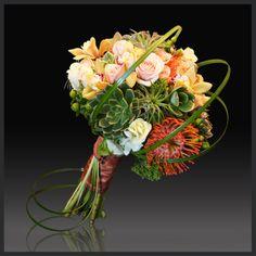 Bridal bouquet designed by deko using Succulents and Tillandsia
