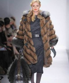 Basso's fur on the runway