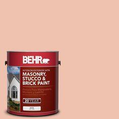 BEHR 1 gal. #M180-3 Flamingo Feather Satin Interior/Exterior Masonry, Stucco and Brick Paint