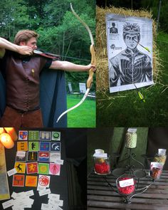 Fun & games! Shoot Joffrey, Matching game with house sigils & mottos and a candy bar