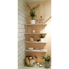 DIY hanging shelves 😍 #madeitmyself #diy #hangingropeshelves #bathroomdecor
