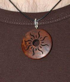 Wood Sun Pendant