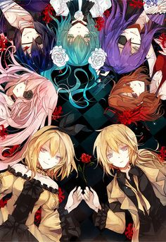 Aku no Monogatari, Gakupo, Miku, Kaito, Luka, Rin. Len and Meiko, Vocaloid