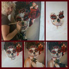 Sugarskull Sugar Skull, Halloween Face Makeup, Sugar Skulls, Candy Skulls, Skull, Sugar Skull Face, Sugar Scull