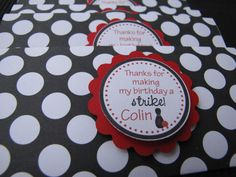 Bowling Themed Candy Bar Wrappers - You Choose The Colors. $12.00, via Etsy.