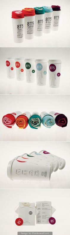 8T5: Tea & T Shirt Packaging https://www.behance.net/gallery/6454707/8T5-Tea-T-Shirt-Packaging