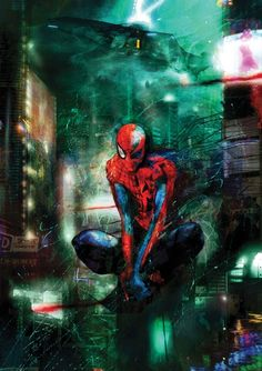 Spider Man by Christopher Shy....love this piece wow!