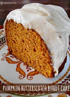 Great dessert for Thanksgiving or any Fall event - Pumpkin Butterscotch Bundt Cake!