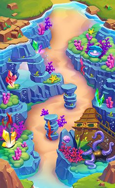 Lil Quest level maps on Behance