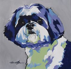 artwork of a shihtzu