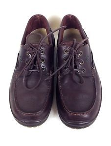 Ecco Shoes Leather Brown Comfort Lace Up Boat Oxfords Casual Mens 8 8 5 42 | eBay