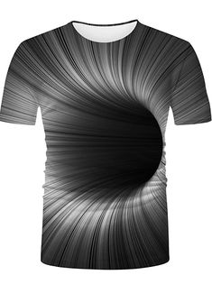 Men's Graphic optical illusion Plus Size T-shirt Print Long Sleeve Daily Tops Streetwear Exaggerated Round Neck Rainbow 2020 - US $17.24 Impression Sur Tee Shirt, Impression 3d, Casual Chic, Casual Tops, Mens Dressing Styles Casual, Violet Rouge, Mode Cool, Top Streetwear, Tee Shirt Homme