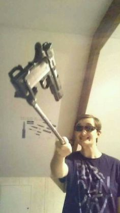 """The new teen Selfie stick challenge! """"Smile...wait for the flash"""""""