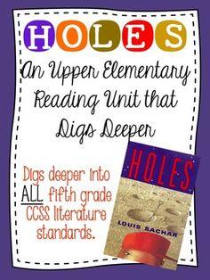Holes Reading Unit Novel Study